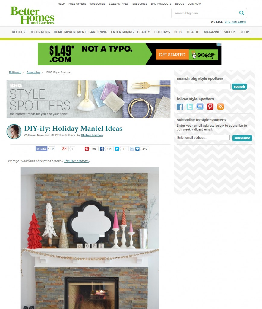 The DIY Mommy in Better Homes and Gardens