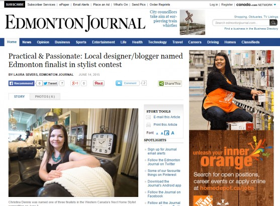 Edmonton Journal, June 2015