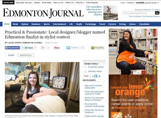 Edmonton Journal, June 2015
