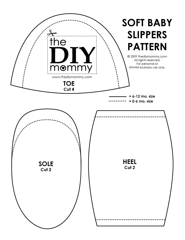 f89d34c7f777 Download   print our PDF pattern  The DIY Mommy – Soft Baby Slippers
