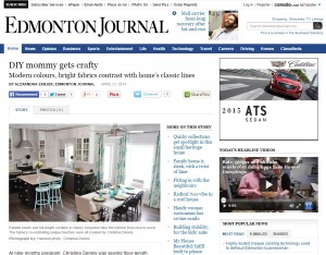 The DIY Mommy in The Edmonton Journal