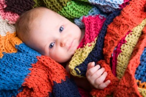 knit-striped-baby-blanket