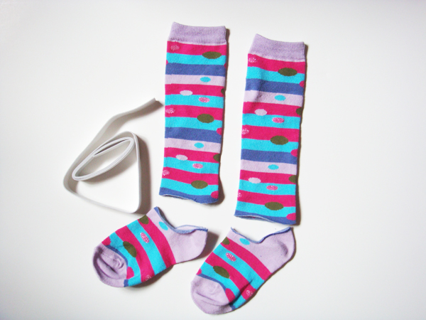 Make Baby Leg Warmers from Socks