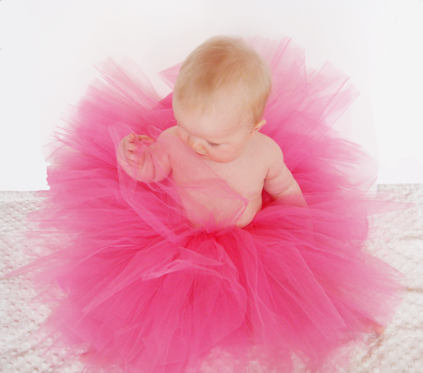 Tutus are great for so many occasions! I made this one in particular for a newborn baby girl. I wanted something small and poofy for her baby pictures.