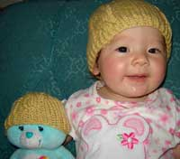 Knit a Cabled Baby Beanie
