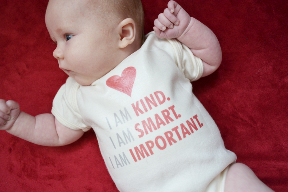 "Make an ""I am Loved"" Onesie"
