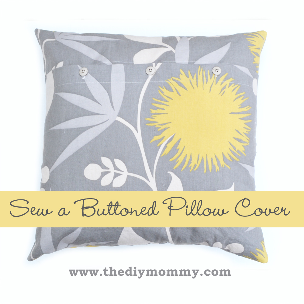 DIY Buttoned Pillow Cover Tutorial