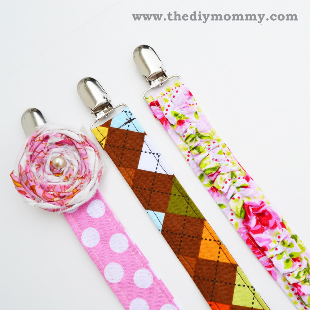 Sew Boutique Soother Clips from The DIY Mommy