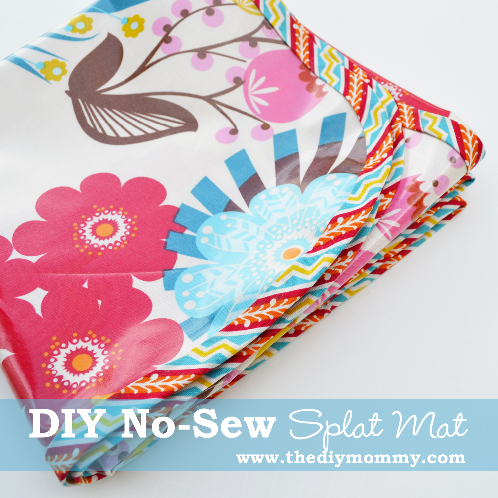 DIY No-Sew Splat Mat by The DIY Mommy