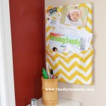 DIY Mail Holder Bulletin Board by The DIY Mommy