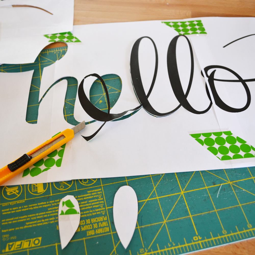DIY Hello Mat From The DIY Mommy