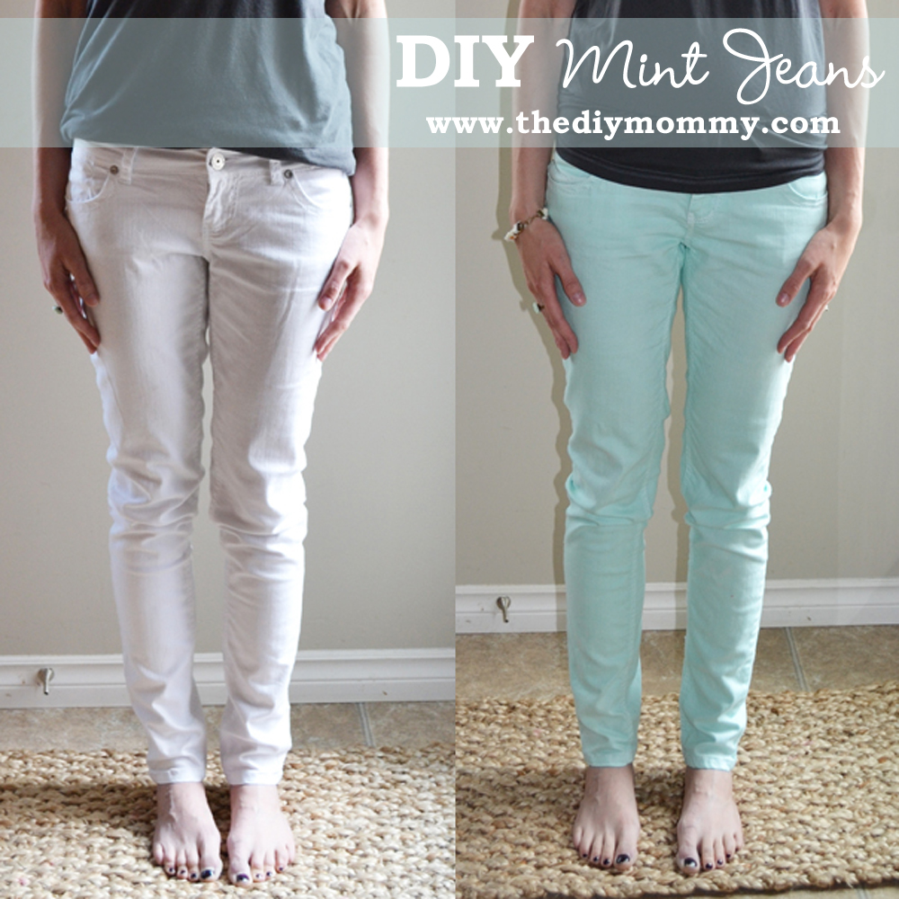 Dye Your Own Mint Jeans