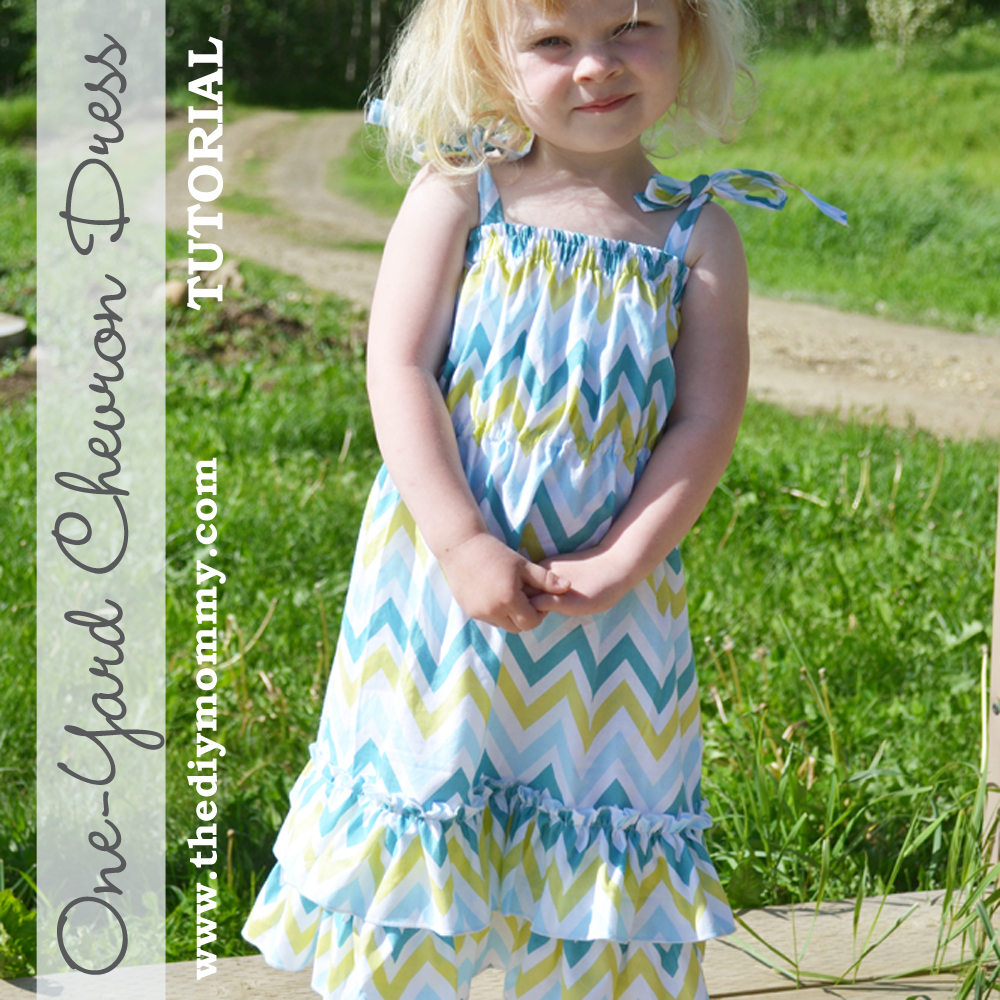 Sew a One Yard Chevron Dress