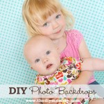 DIY Photo Backdrops by The DIY Mommy