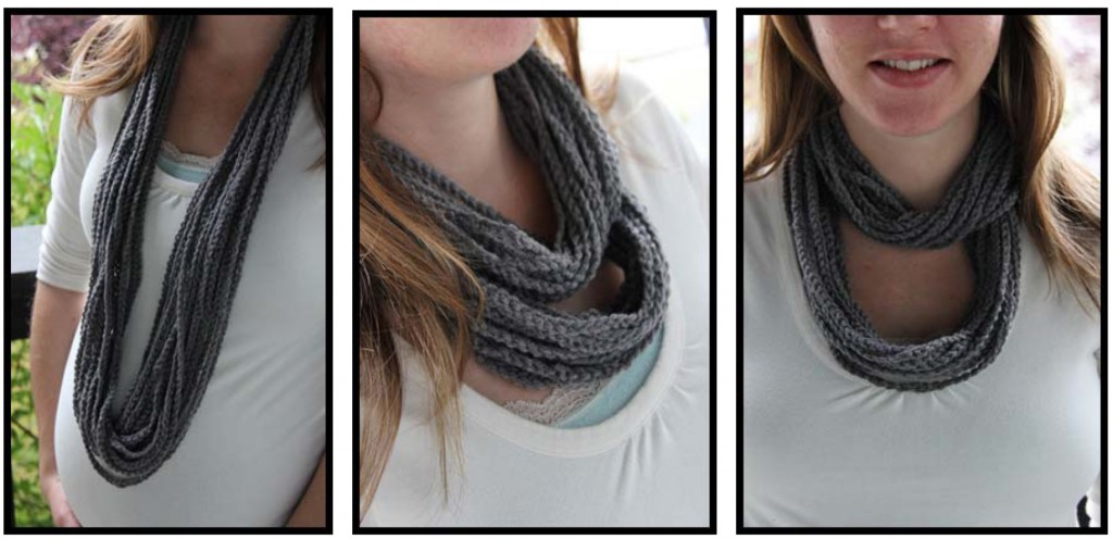 DIY Simple Crochet Infinity Scarf