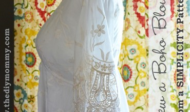 Sew a Boho Blouse by The DIY Mommy
