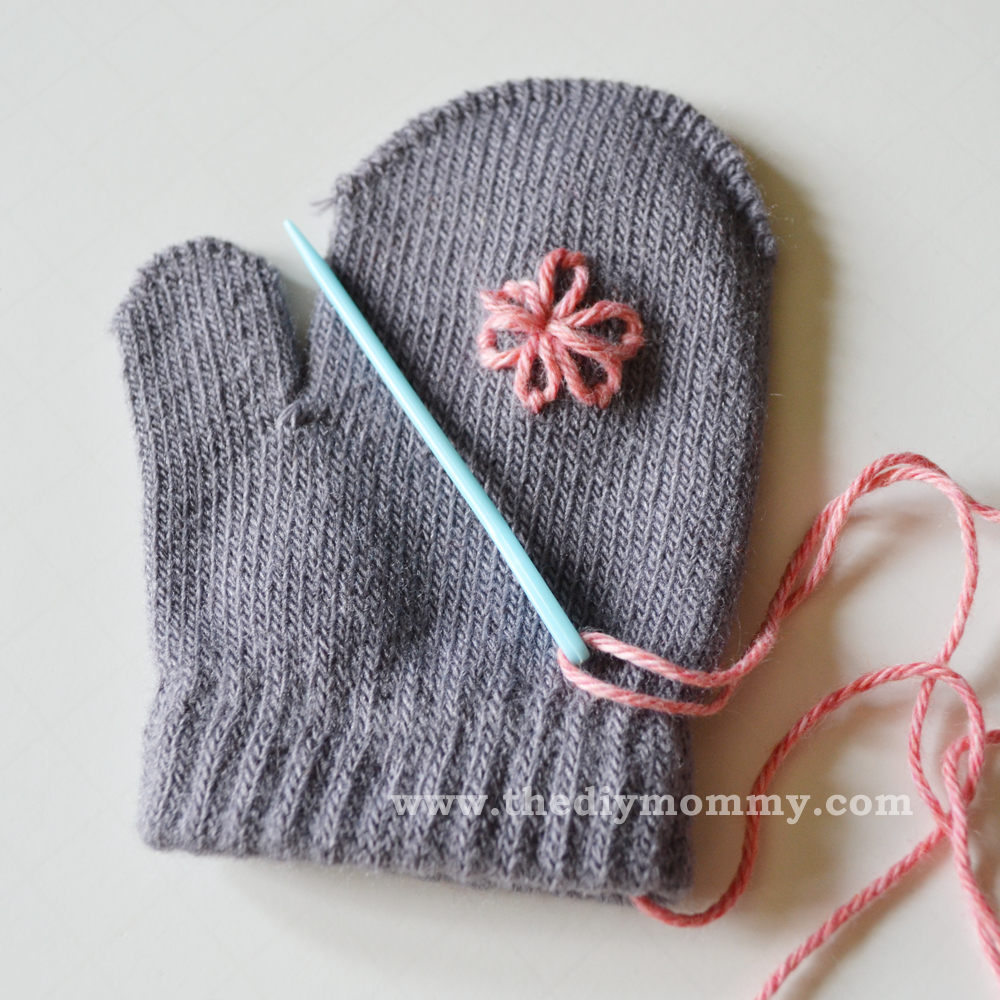 Embroider Baby Mittens by The DIY Mommy