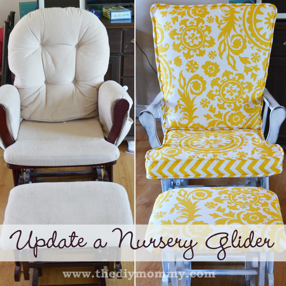 Update a Nursery Glider Rocking Chair by The DIY Mommy - Update A Nursery Glider Rocking Chair The DIY Mommy