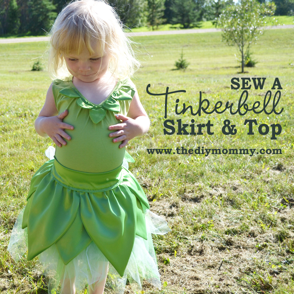sewing tutorial tinker bell skirt and top