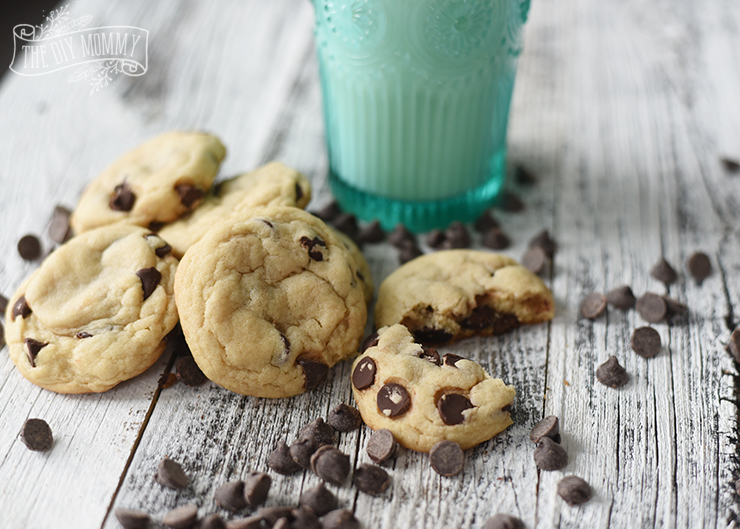 The softest, best chocolate chip cookie recipe with a secret ingredient!