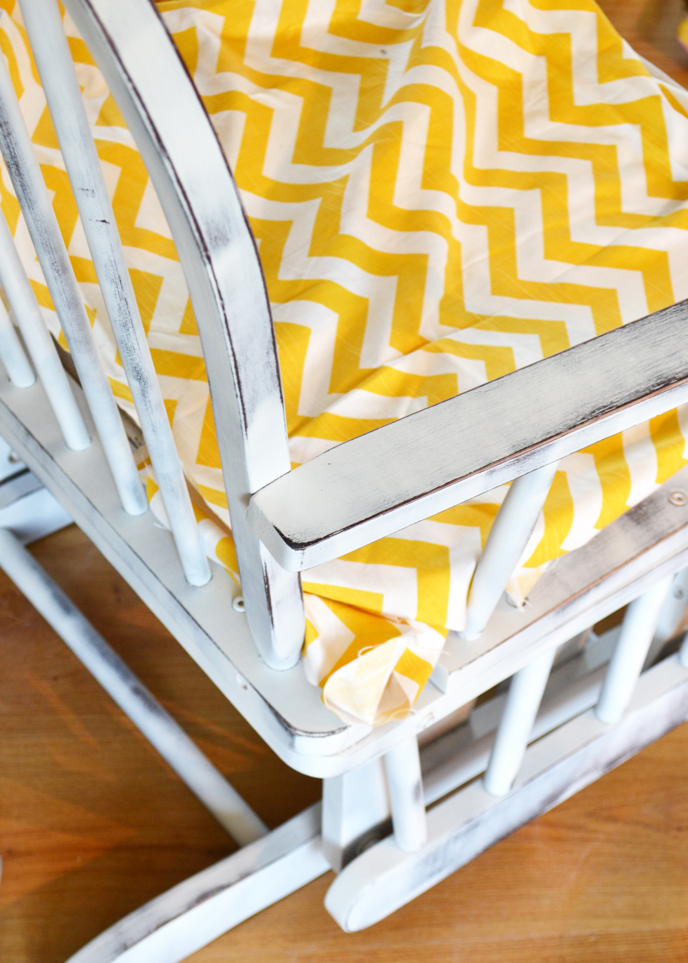 Update A Nursery Glider Rocking Chair By The DIY Mommy ...