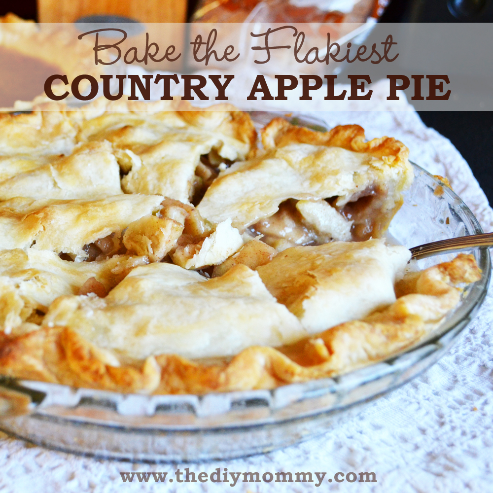 Bake the Flakiest Country Apple Pie by The DIY Mommy