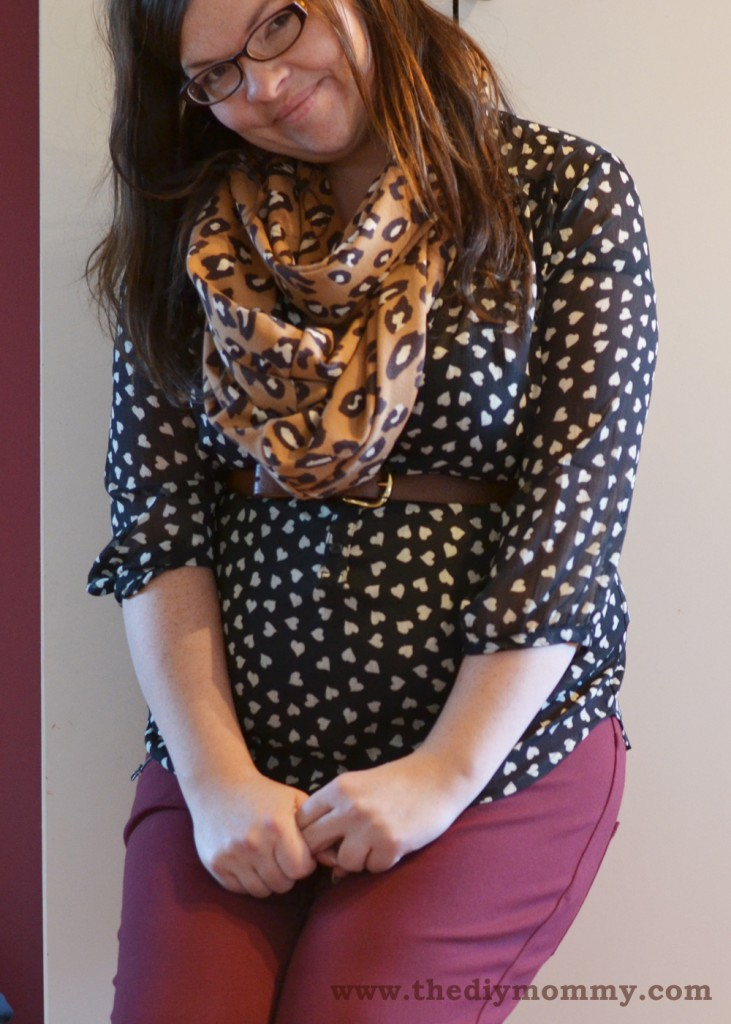 Wear Burgundy Skinnies for Fall - Petite Curvy Mom Style by The DIY Mommy