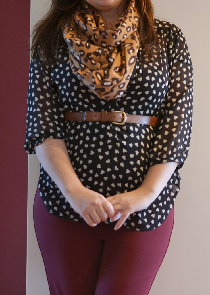 Wear Burgundy Skinnies - Petite Curvy Mom Style by The DIY Mommy