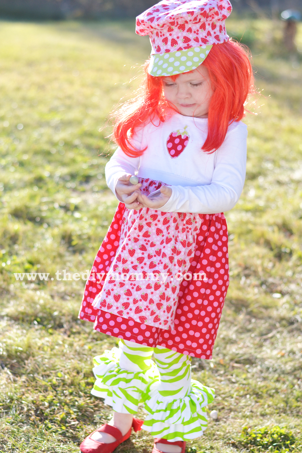 Sew a Strawberry Shortcake Costume by The DIY Mommy  sc 1 st  The DIY Mommy & Sew a Strawberry Shortcake Costume - Boutique dress hat and ...