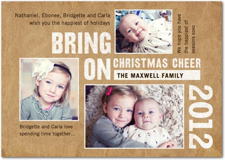 Tiny Prints Christmas Cards on The DIY Mommy