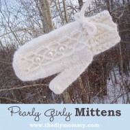 A Handmade Christmas: Knit Pearly Girly Mittens