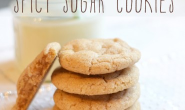 Bake Spicy Sugar Cookies by The DIY Mommy. They're a cross between a snickerdoodle and a gingerbread cookie!