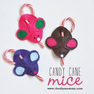 Make Candy Cane Mice – A Kid's Christmas Craft