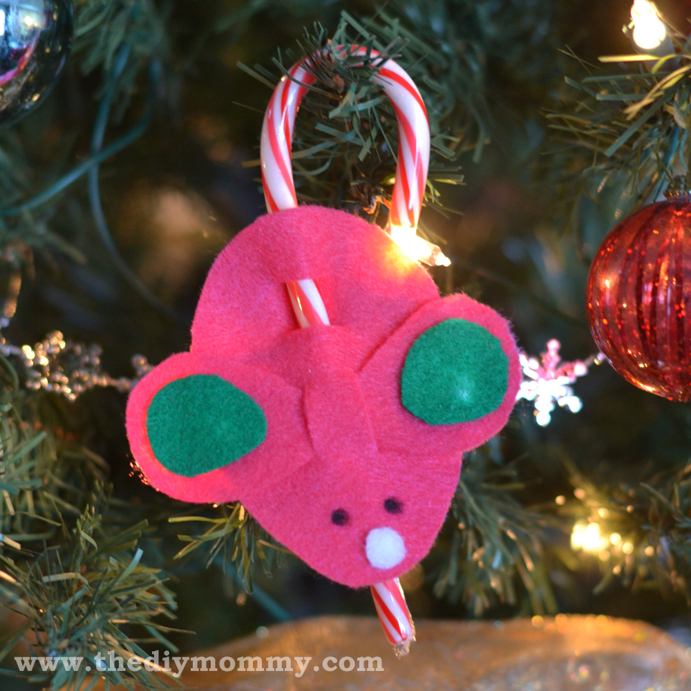 Candy Cane Mice Craft a la Martha Stewart on The DIY Mommy