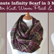 Sew the 15 Minute Infinity Scarf in 3 More Ways: Striped, Woven Plaid & Lace Overlay