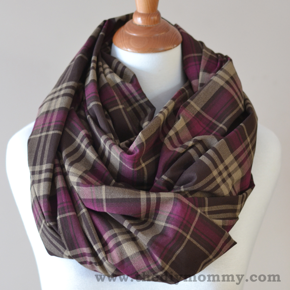 sew the 15 minute infinity scarf in 3 more ways striped