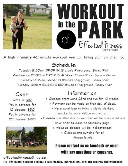 Workout in the Park Stony Plain