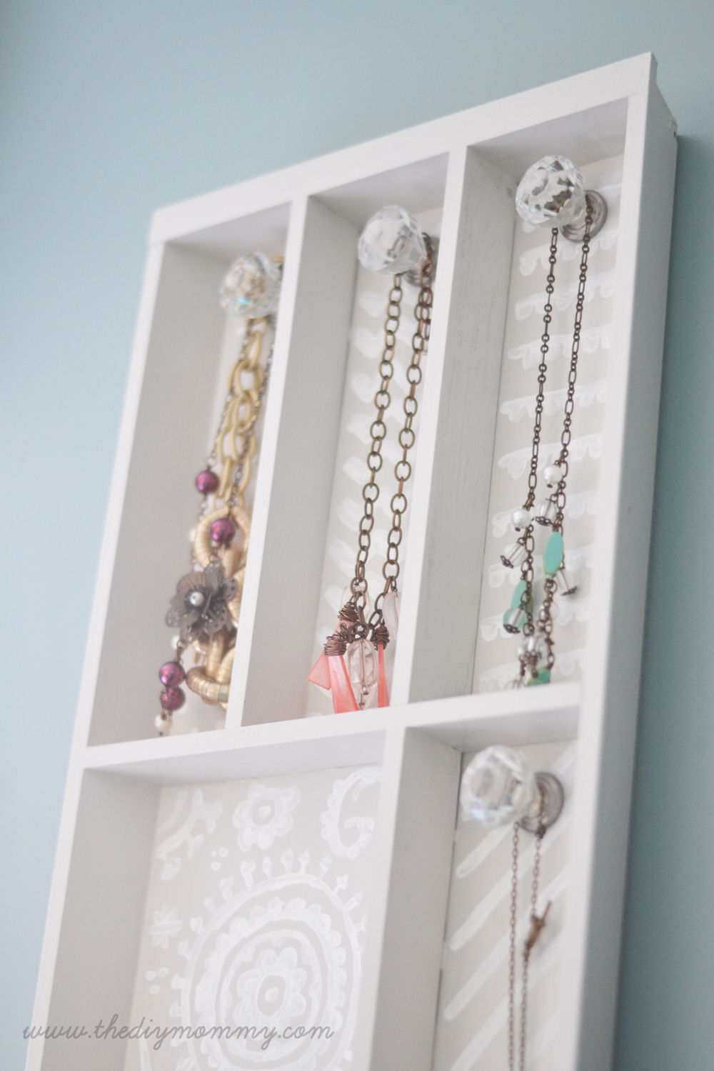 Jewelry Organizer Diy Make A Jewelry Holder From A Cutlery Tray The Diy Mommy
