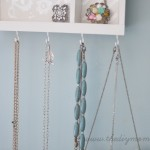 DIY Jewelry Holder from a Cutlery Tray by The DIY Mommy