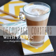 Make Decoupage Fabric Coasters