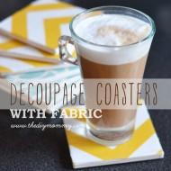 Make Decoupage Fabric Coasters