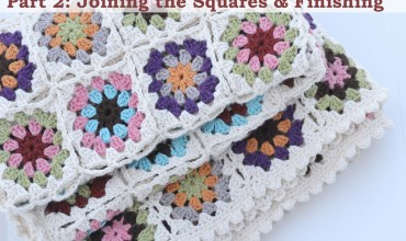 Crochet an Organic Cotton Granny Square Baby Blanket by The DIY Mommy