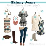 What to wear with skinny jeans - petite curvy mom style - The DIY Mommy