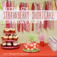Little C's Strawberry Shortcake Birthday Party (+ Free Water Bottle & Treat Bag Printables)