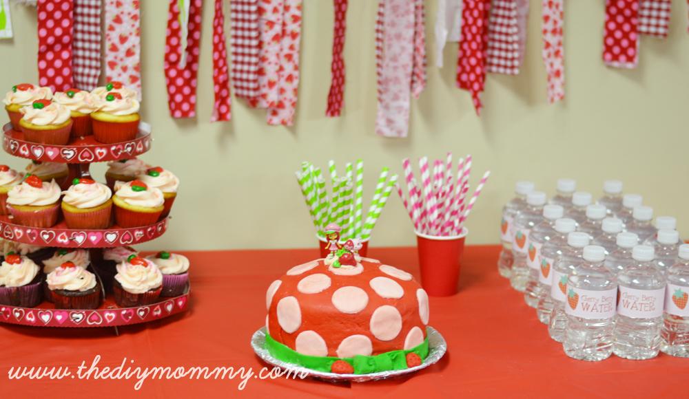Strawberry Shortcake Birthday Party By The DIY Mommy