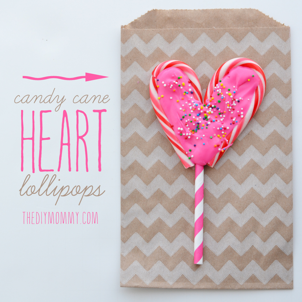 Make A Candy Cane Heart Lollipop By The Diy Mommy