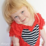 Sew and Easy Valentine Dress with Ruffle Fabric by The DIY Mommy