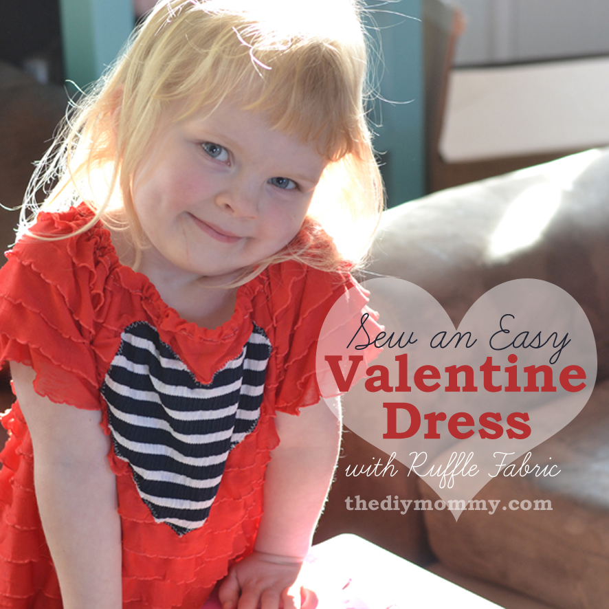 Sew an Easy Valentine Dress with Ruffle Fabric by The DIY Mommy