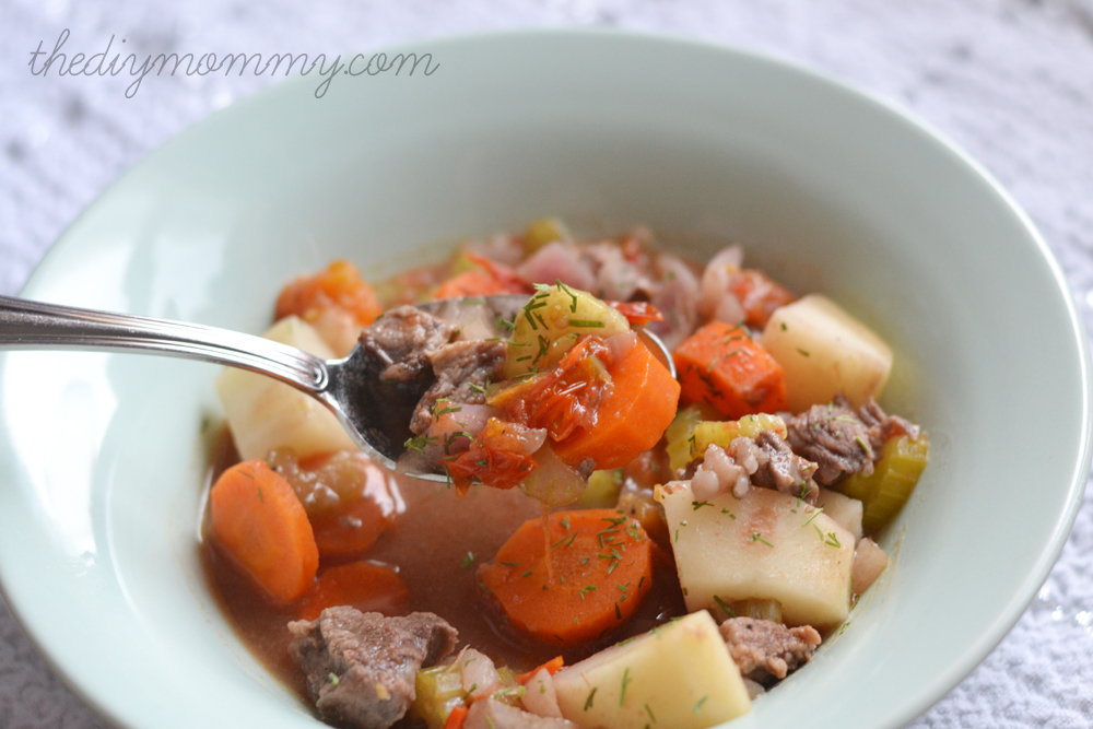 Make Slow Cooker Beef Stew by The DIY Mommy