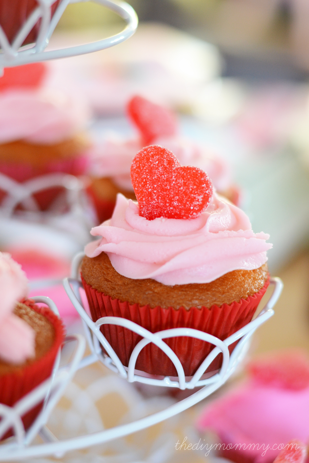 Valentine's Day Cupcakes by The DIY Mommy